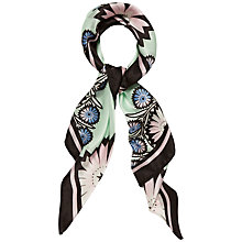 Buy Jaeger Cutwork Floral Silk Scarf, Multi Online at johnlewis.com