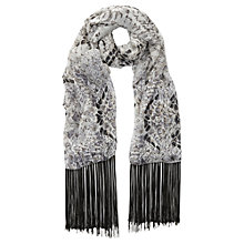 Buy Mint Velvet Leigha Print Scarf, Grey / Neutral Online at johnlewis.com