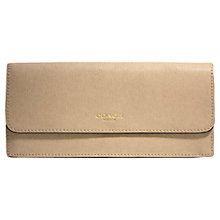 Buy Coach Saffiano Leather Soft Purse, Tan Online at johnlewis.com