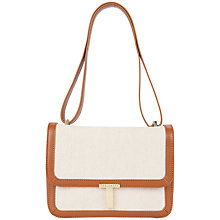 Buy Ted Baker Naimah Canvas Across Body Handbag, Neutral Online at johnlewis.com