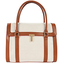 Buy Ted Baker Wendee Canvas Tote Handbag, Neutral Online at johnlewis.com