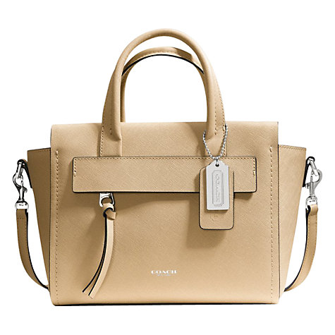 Buy Coach Bleecker Mini Riley Leather Carryall Grab Bag Online at johnlewis.com