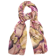 Buy Phase Eight Pansy Print Scarf, Multi Pink Online at johnlewis.com