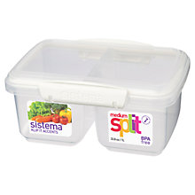 Buy Sistema Split Food Storage Container, Medium Online at johnlewis.com
