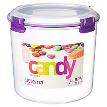 Buy Sistema Candy Food Storage Container, 2.2L Online at johnlewis.com