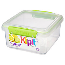 Buy Sistema Klip It Plus Lunch Box, 1.2L Online at johnlewis.com