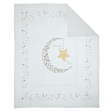 Buy Margaret Muir Sleepy Stars Cot/Cotbed Quilt, White/Multi Online at johnlewis.com