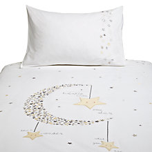 Buy Margaret Muir Sleepy Stars Cotbed Duvet and Pillowcase Set, White/Multi Online at johnlewis.com