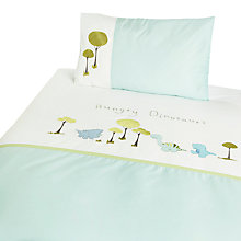 Buy Margaret Muir Hungry Dinosaurs Cotbed Duvet Set, Blue Online at johnlewis.com