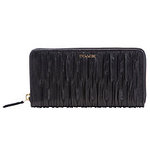 Buy Coach Madison Accoridon Gathered Leather Zip Purse, Black Online at johnlewis.com