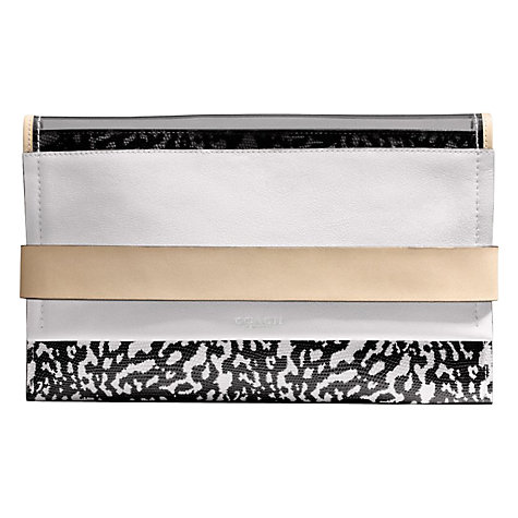 Buy Coach Bleecker Edgepaint Leather Clutch Bag Online at johnlewis.com