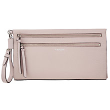 Buy Coach Bleeker Large Pebbled Leather Clutch Bag, Neutral Pink Online at johnlewis.com