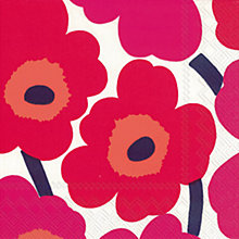 Buy Marimekko Red Flower Napkins, Pack of 20 Online at johnlewis.com