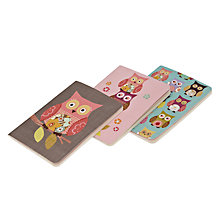 Buy Go Stationary Owls Pocket Notebooks, Set of 3 Online at johnlewis.com