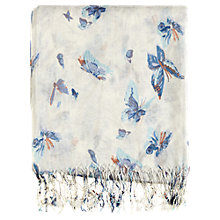 Buy Warehouse Butterfly Print Scarf, Cream Online at johnlewis.com