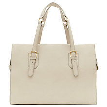 Buy Reiss Large Top Handle Harrison Bag, Bone Online at johnlewis.com