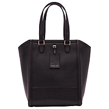Buy Reiss Large Hayward Leather Tote Bag, Navy Online at johnlewis.com