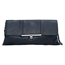 Buy Mango Flap Clutch Handbag, Black Online at johnlewis.com