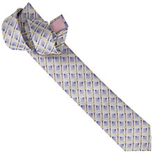 Buy Thomas Pink Knighton Grid Woven Tie, Blue/Yellow Online at johnlewis.com