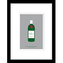 Buy Loveday Designs Personalised Worship Gin Framed Print, 40 x 30cm Online at johnlewis.com