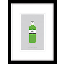 Buy Loveday Designs Personalised Adore Gin Framed Print, 40 x 30cm Online at johnlewis.com