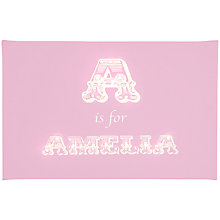 Buy Illuminated Canvas Personalised Alphabet Traditional LED Canvas, 40 x 60cm Online at johnlewis.com