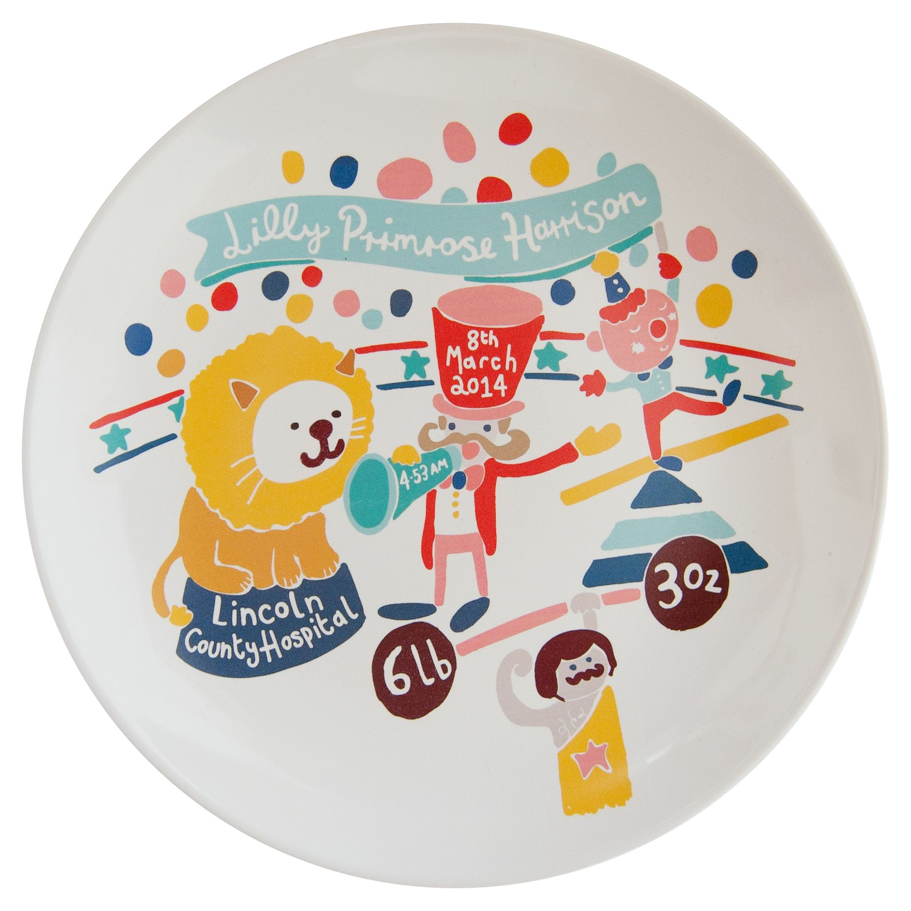 Ethel and Co Ethel and Co Personalised Circus Decorative Plate
