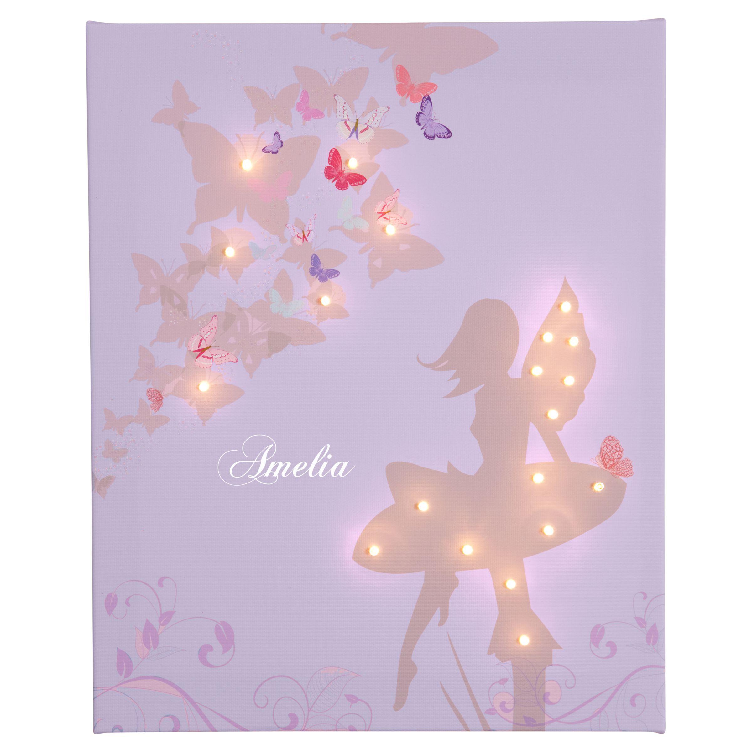 Illuminated Canvas Illuminated Canvas Personalised Fairy LED Canvas, 40 x 60cm