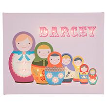 Buy Illuminated Canvas Personalised Russian Dolls LED Canvas, 40 x 60cm Online at johnlewis.com