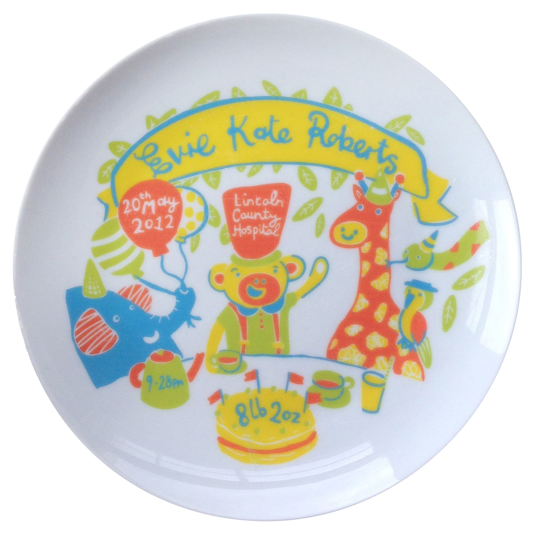 Ethel and Co Ethel and Co Personalised Jungle Decorative Plate