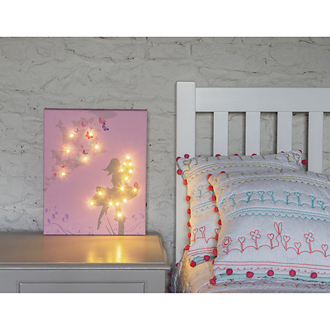 Buy Illuminated Canvas Personalised Fairy LED Canvas, 40 x 60cm Online at johnlewis.com