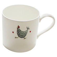 Buy Jersey Pottery Chicken Rise & Shine Mug Online at johnlewis.com