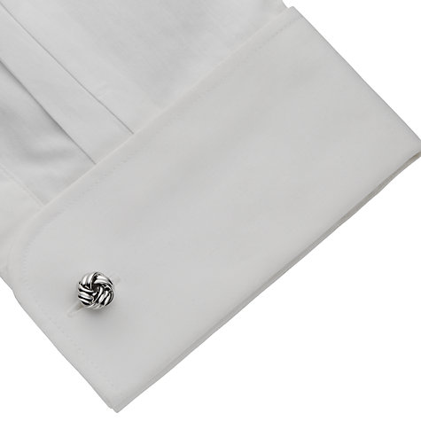 Buy John Lewis Classic Knot Cufflinks, Silver Online at johnlewis.com