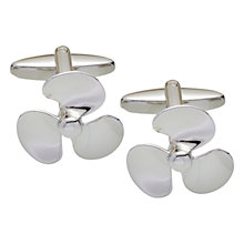Buy John Lewis Propeller Cufflinks, Silver Online at johnlewis.com