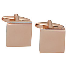 Buy John Lewis Square Cufflinks, Rose Gold Online at johnlewis.com