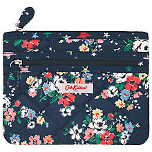 Buy Cath Kidston Clifton Rose Quilted Double Zip Purse Online at johnlewis.com