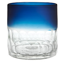 Buy John Lewis Cut Glass Hurricane Lamp, Blue/ Clear Online at johnlewis.com