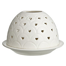 Buy John Lewis Heart Punched Tealight Holder, White Online at johnlewis.com