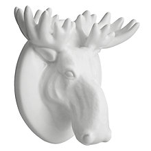 Buy John Lewis Ceramic Elk Head, White Online at johnlewis.com