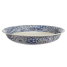 Buy John Lewis Maison Floral Pattern Bowl, Blue Online at johnlewis.com