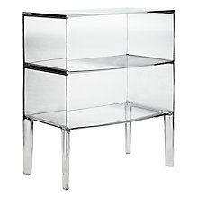 Buy Philippe Starck for Kartell Ghost Buster Commode, Crystal, Large Online at johnlewis.com