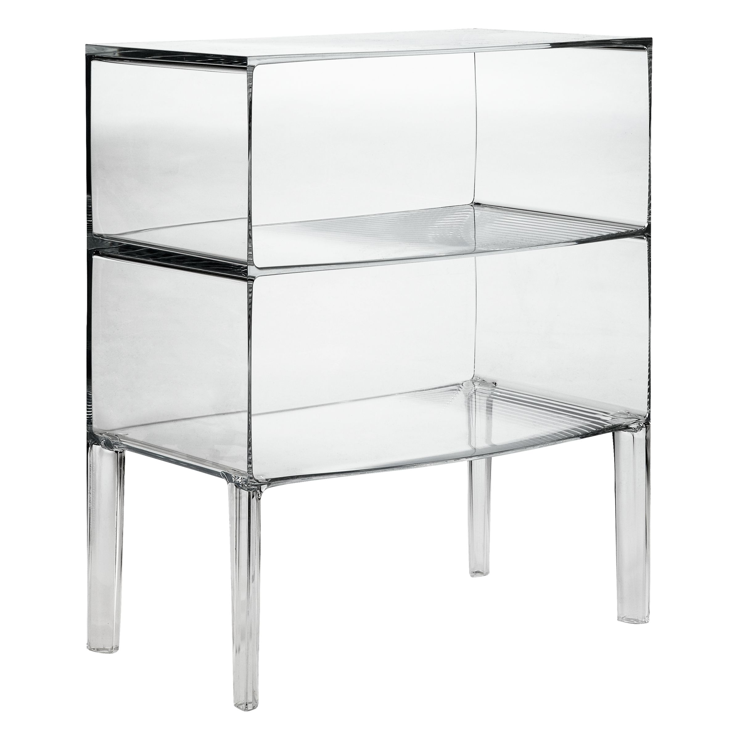 Kartell Philippe Starck for Kartell Ghost Buster Commode, Crystal, Large