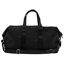 Buy Reiss Channing Textured 48 Hour Holdall, Black Online at johnlewis.com