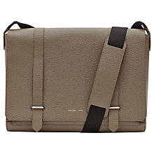 Buy Reiss Powell Pebbled Leather Messenger Bag Online at johnlewis.com