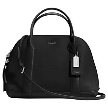 Buy Coach Bleecker Preston Leather Bowling Bag, Black Online at johnlewis.com