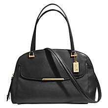 Buy Coach Madison Leather Georgie Satchel Bag, Black Online at johnlewis.com