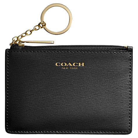 Buy Coach Mini Skinny Saffiano Leather Purse, Black Online at johnlewis.com
