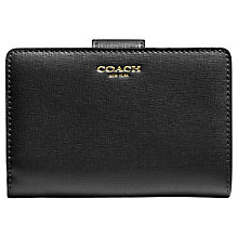 Buy Coach Saffiano Leather Medium Wallet, Black Online at johnlewis.com