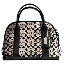 Buy Coach Bleeker Signature Preston Leather Bowling Bag, Neutral/Khaki Online at johnlewis.com