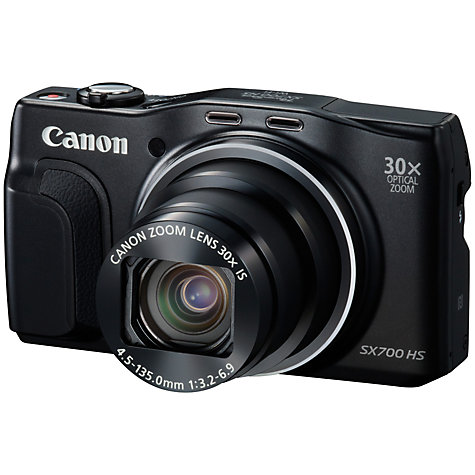 Buy Canon PowerShot SX700 HS Digital Camera, HD 1080p, 16.1MP, 30x Optical Zoom, NFC, Wi-Fi, 3 LCD Screen Online at johnlewis.com
